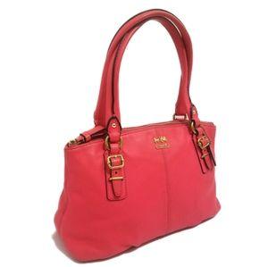 COACH Flamingo Pink Mini Leather Shoulder Handbag